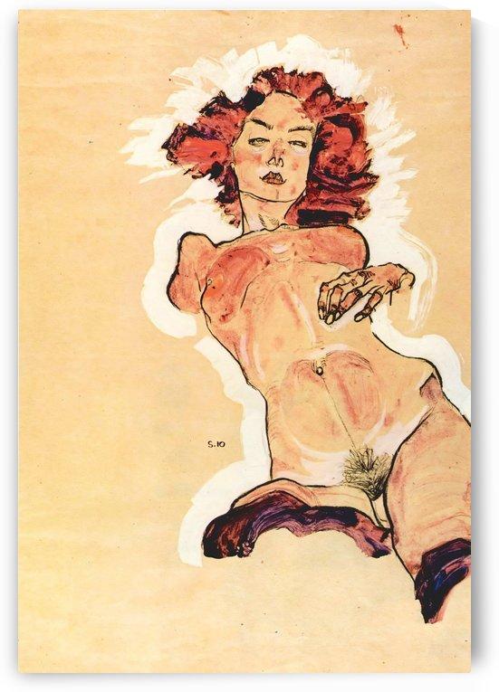Female Act by Egon Schiele by Egon Schiele