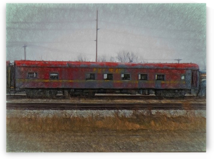 Faded Glory Rock Island Pullman Car by Leslie Montgomery