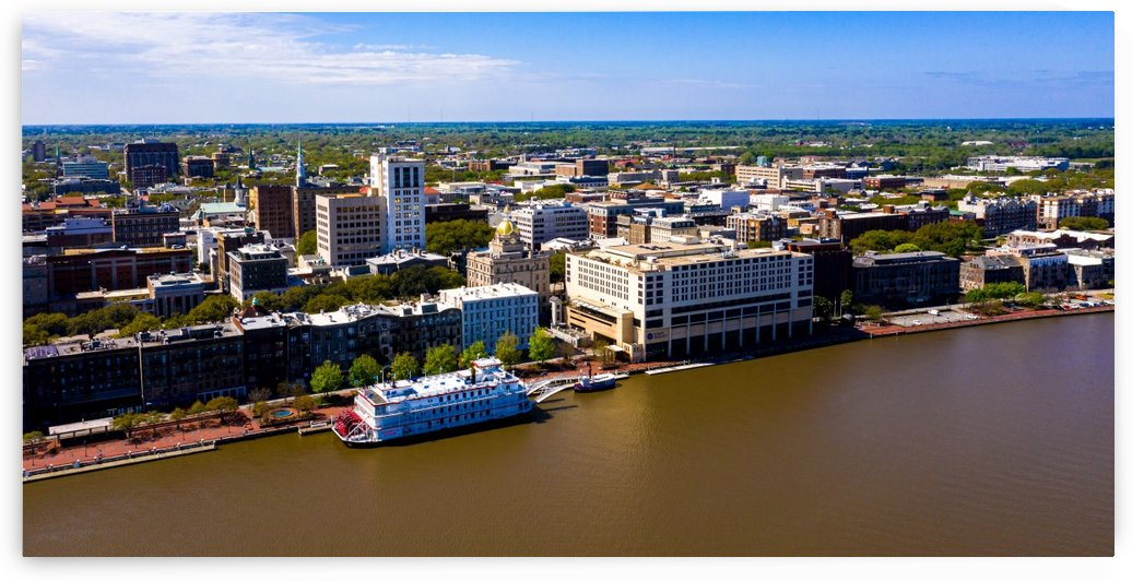 Downtown Savannah Aerial View 0150 by @ThePhotourist