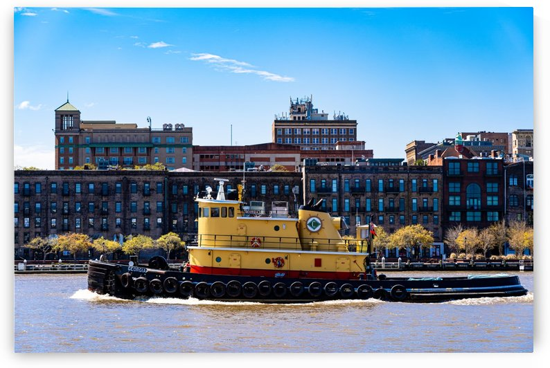 Tug Boat on the Savannah River 04343 by The Photourist - Sanjeev Singhal