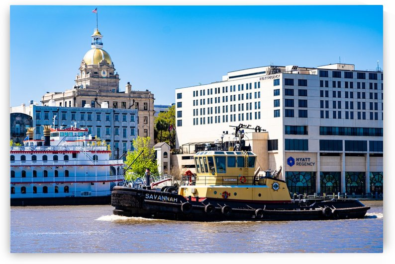 Tug Boat on the Savannah River 04317 by @ThePhotourist