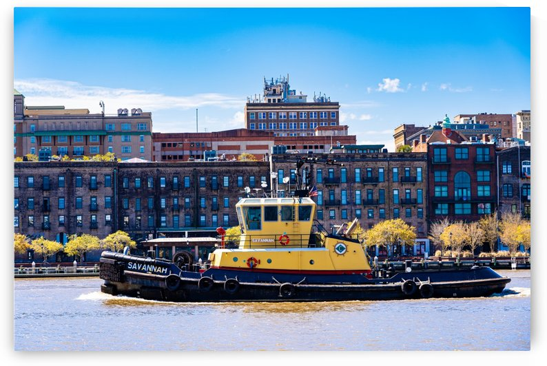 Tug Boat on the Savannah River 04327 by The Photourist - Sanjeev Singhal