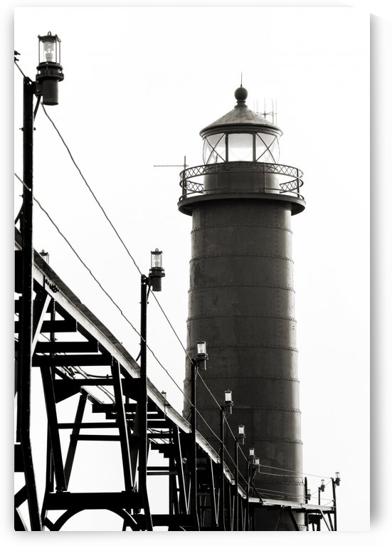 Lighthouse in Black and White by C  McGowen