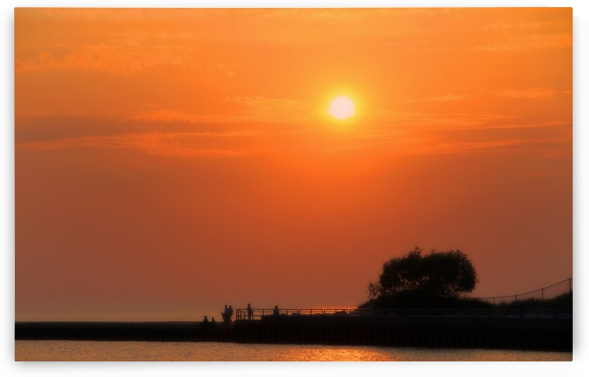 Sunset at the Lake by C  McGowen