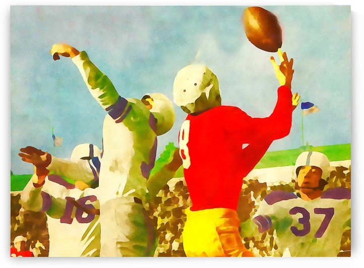 Vintage Football Print_Touchdown Catch Artwork by Row One Brand