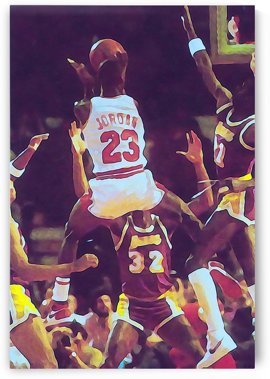 Michael Jordan Art Print_Chicago Bulls Jordan Artwork Watercolor Style_Jordan Poster by Row One Brand