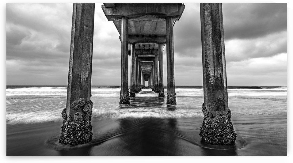 Scripps Pier in B&W by Sebastian Dietl