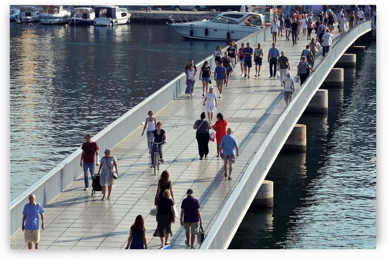 Pedestrian bridge in Zadar by Alen Gurovic