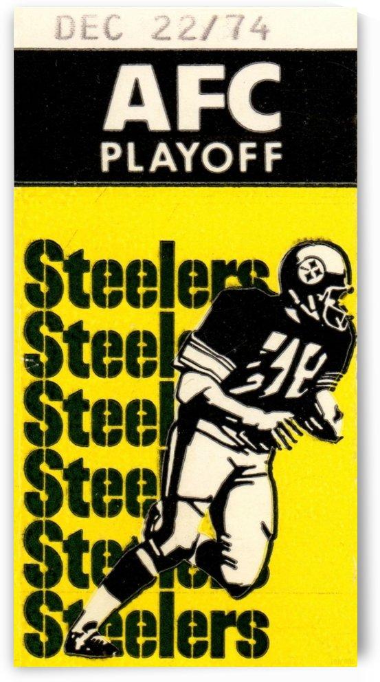 Pittsburgh Steelers Ticket Stub Wall Art_Vintage Ticket Stub Prints by Row One Brand