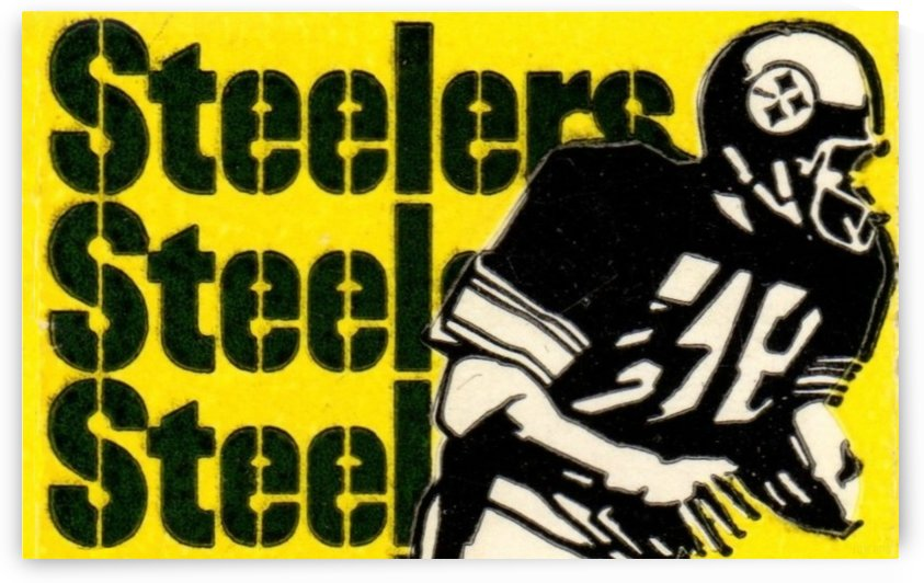 Vintage Pittsburgh Steelers Football Art Reproduction by Row One Brand