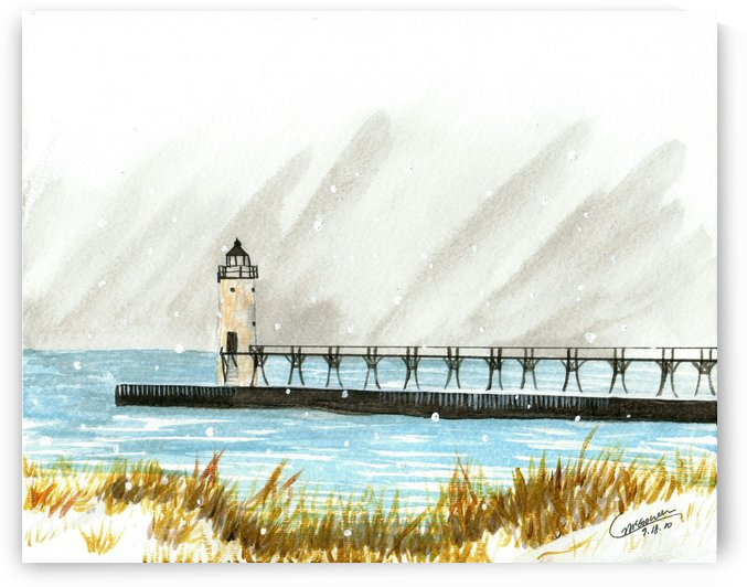 Winter Lighthouse by C  McGowen