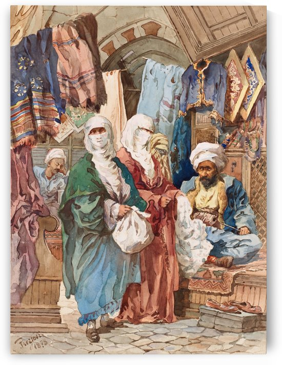 The Silk Bazaar by Amadeo Preziosi