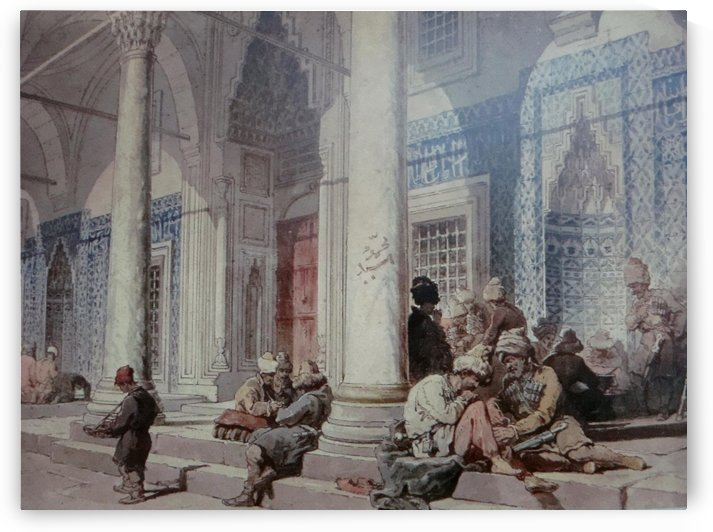 Entrance Of The Mosque by Amadeo Preziosi