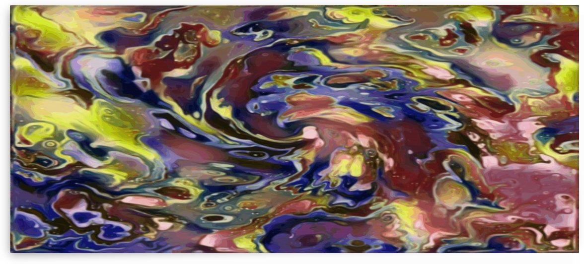 Vortex - rainbow multicolor marble pattern abstract wall art by Jaycrave Designs