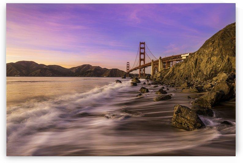 Golden Gate Sunset Silk by Sebastian Dietl