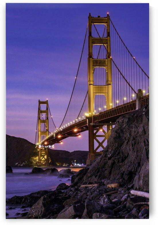 Golden Gate Blue Hour by Sebastian Dietl