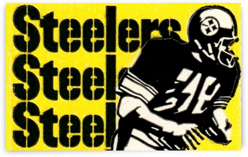 Row One Brand Vintage Pittsburgh Steelers Football Art Print Art Reproduction (1974) by Row One Brand