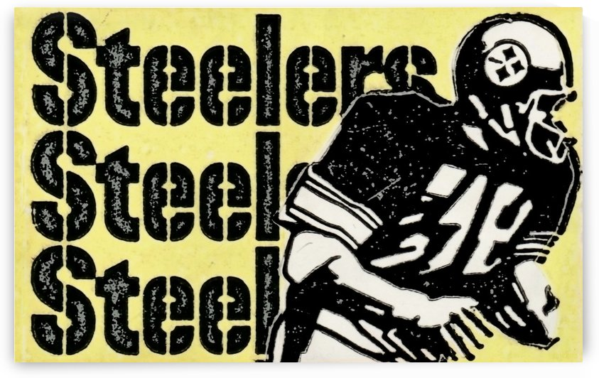 Retro 1974 Pittsburgh Steelers Football Art Print Art_Vintage NFL fine art print by Row One Brand