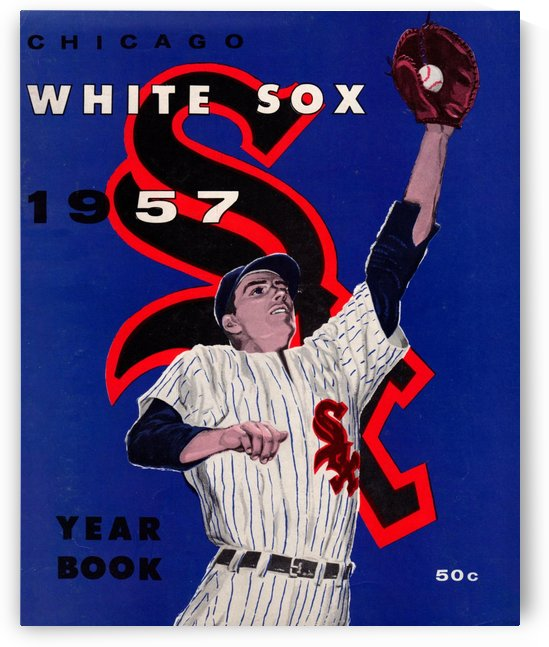 1957 Chicago White Sox Yearbook Wall Art_Vintage Baseball Art_Row One Brand Sports Print by Row One Brand