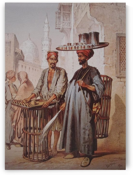 Sellers In Cairo by Amadeo Preziosi
