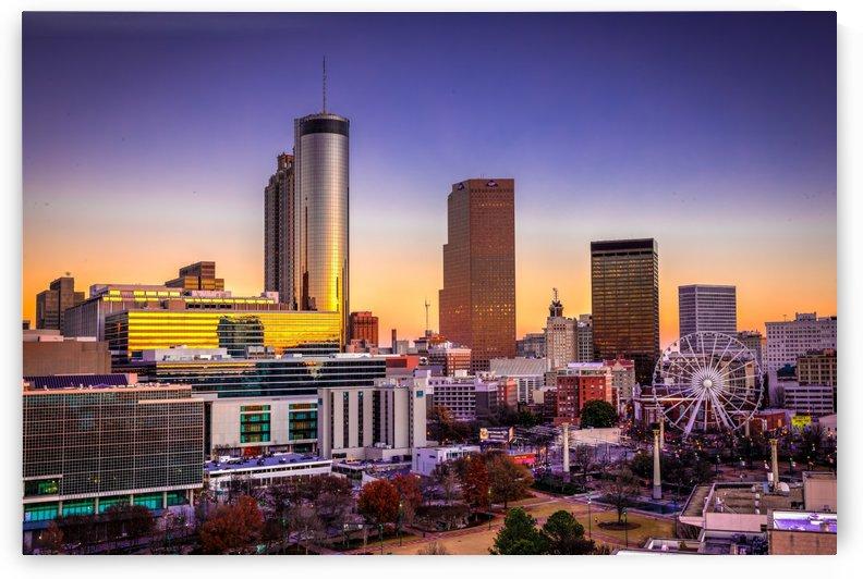 Atlanta GA Skyline Sunset 0000 by @ThePhotourist