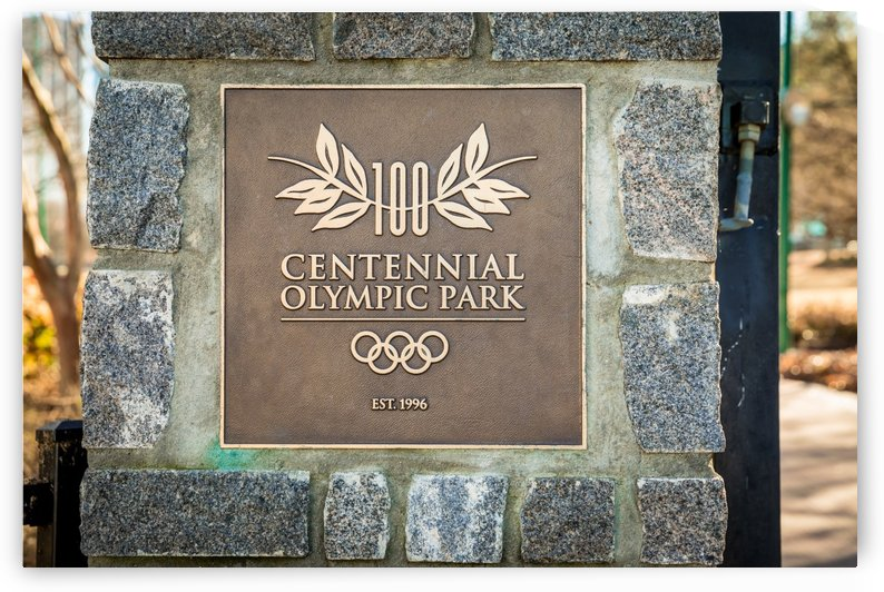 Centennial Olympic Park Sign Atlanta 1849 by @ThePhotourist