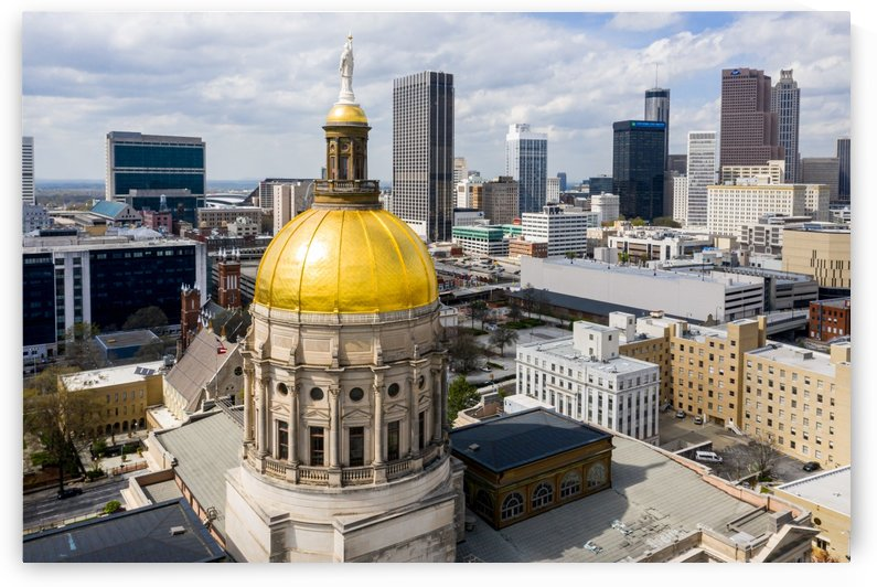 Downtown Atlanta GA Aerial View   State Capitol Building 0213 by The Photourist - Sanjeev Singhal