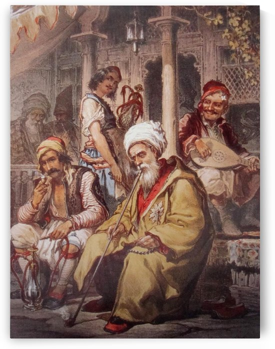 Ottoman cafe by Amadeo Preziosi
