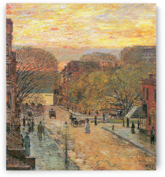 West 78th Street in Spring by Hassam by Hassam