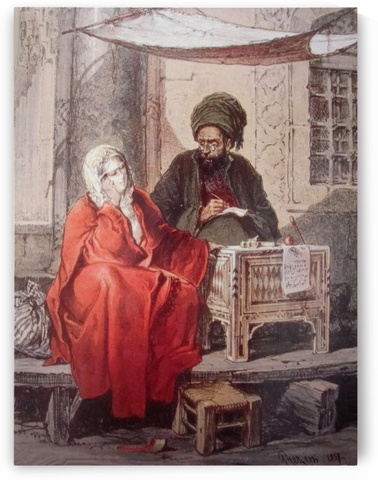 The Ottoman Scribe by Amadeo Preziosi