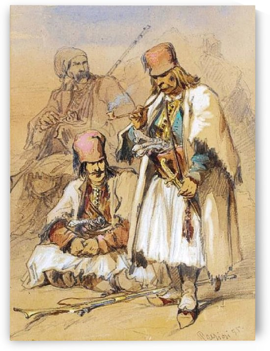 Ottoman soldiers by Amadeo Preziosi