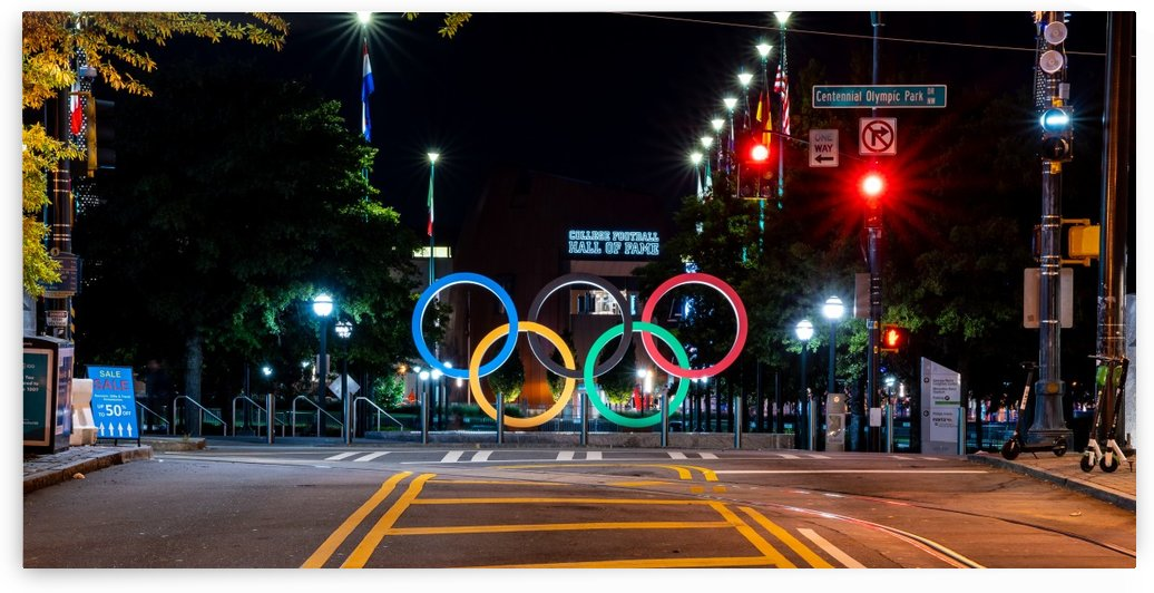 Olympic Rings   The Spectacular at Centennial Park Atlanta 4562 by The Photourist - Sanjeev Singhal