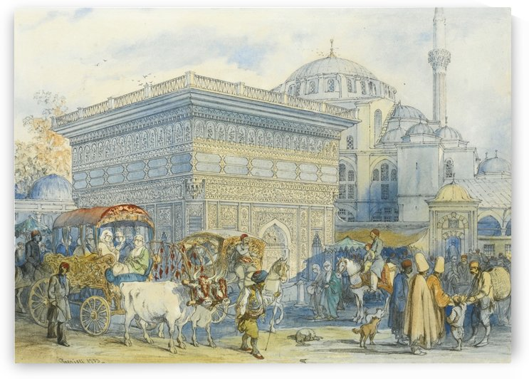 Outside the mosque by Amadeo Preziosi