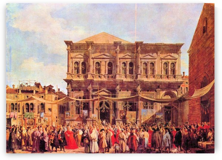 Festival in San Rocco by Canaletto by Canaletto
