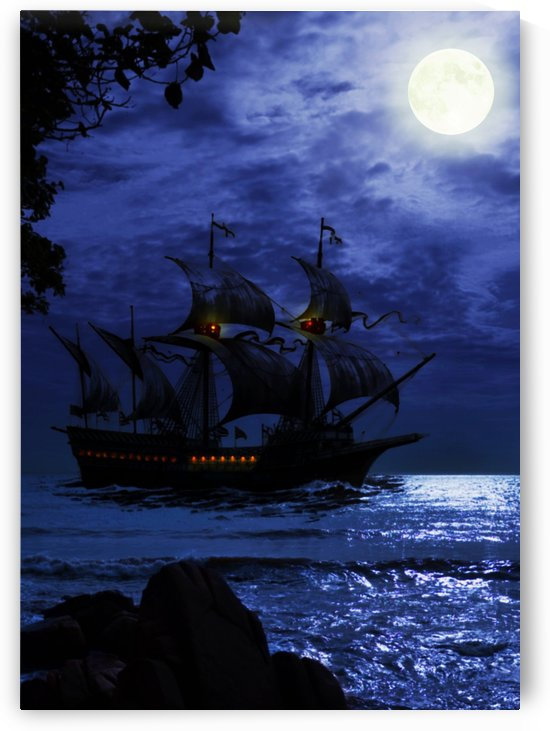 Sail under the Moon Light by Artistic Paradigms