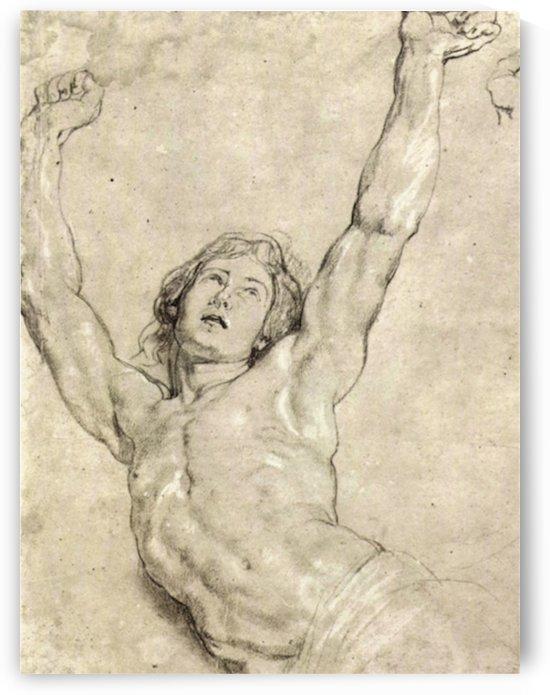 Figure Study of Christ by Rubens by Rubens