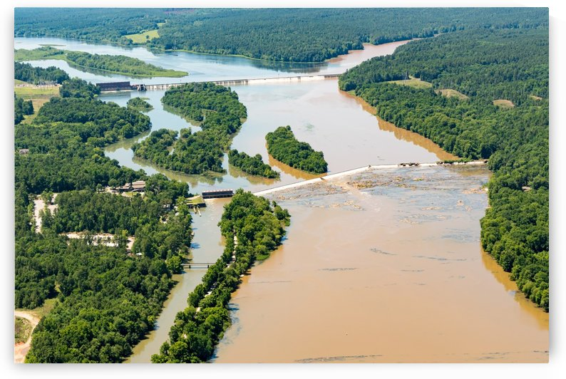 Savannah Rapids Park Aerial View in Columbia County GA 3002 by The Photourist - Sanjeev Singhal
