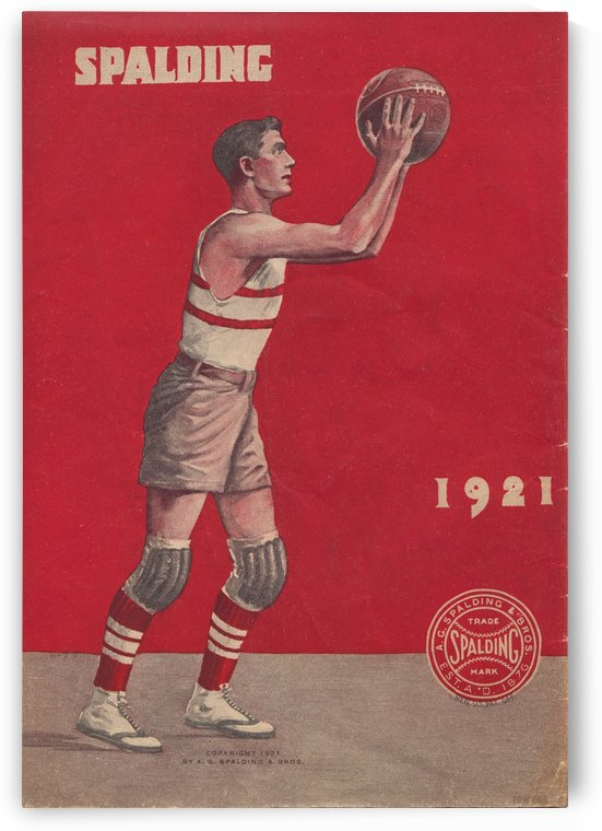 1921_Basketball_Spalding Guide Poster by Row One Brand