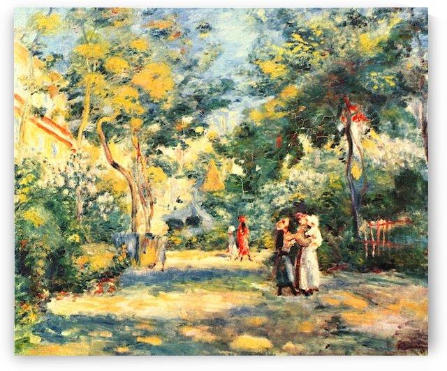 Figures in the garden by