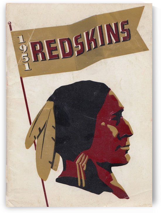 1951 Washington Redskins Press Guide Art Reproduction Row One Brand Vintage Sports Art by Row One Brand