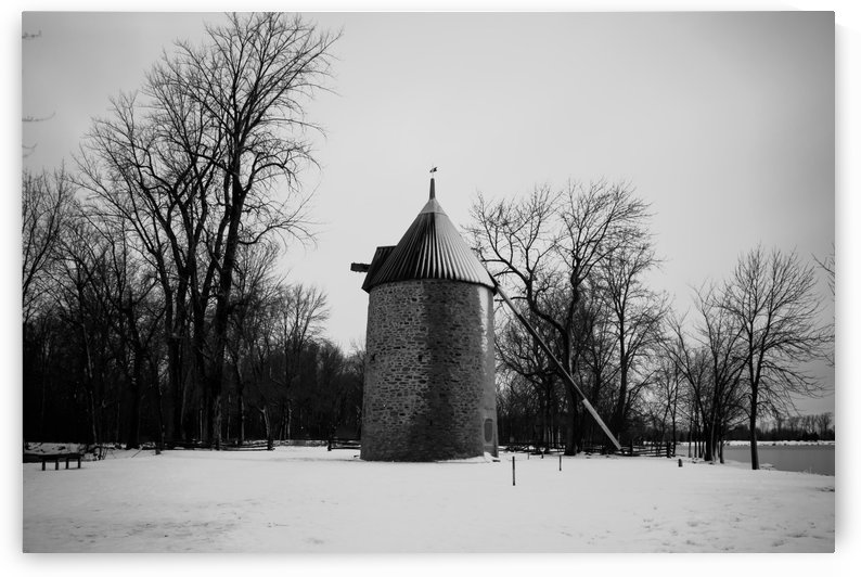 Black and white windmill by RezieMart