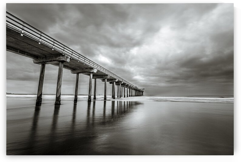 B&W Scripps Pier San Diego by Sebastian Dietl