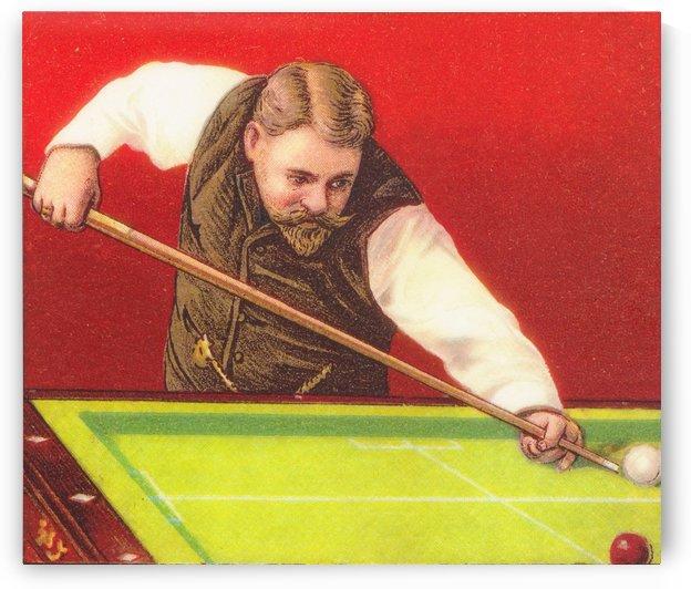 1910 Billiards Art by Row One Brand