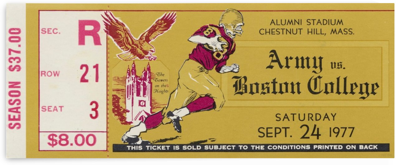 1977 Boston College vs. Army by Row One Brand