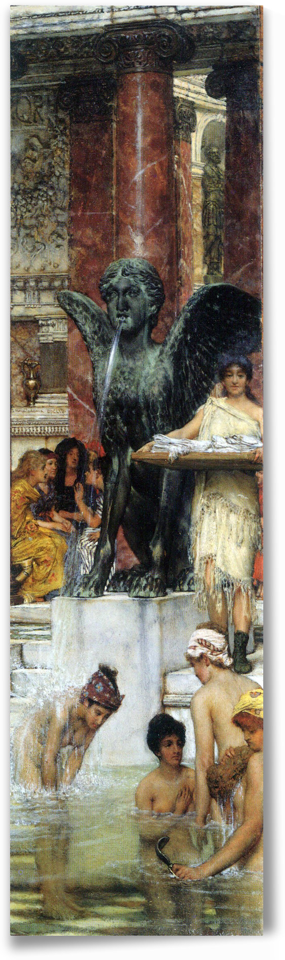 A bathroom (An ancient tradition) by Alma-Tadema by Alma-Tadema