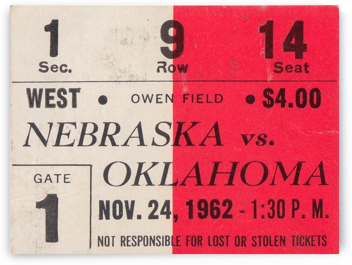 Oklahoma Sooners Owen Field Metal Sign_Ticket Stub Signs by Row One Brand