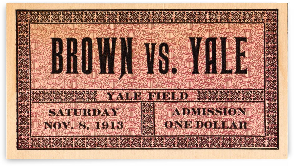 1913_College_Football_Brown vs. Yale_Yale Field_Yale Ticket Stub Collection by Row One Brand
