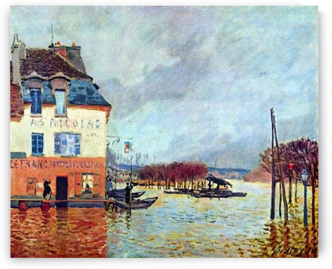 Flood at Port Manly by Sisley by Sisley