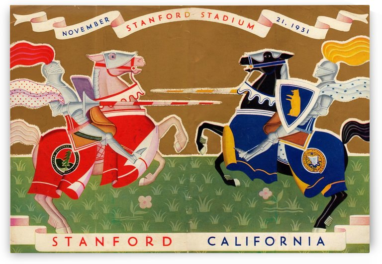 1931 Stanford vs. California by Row One Brand