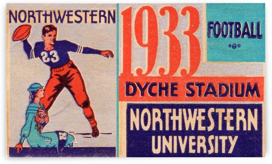 1933 Northwestern Football by Row One Brand